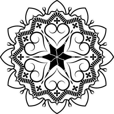 Mandala art vector