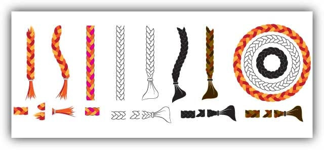 braid brush vector illustrator