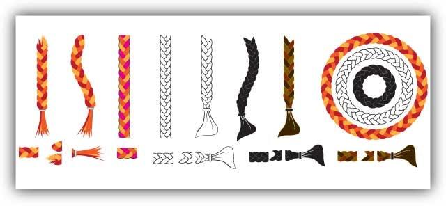 braid brush vector illustrator