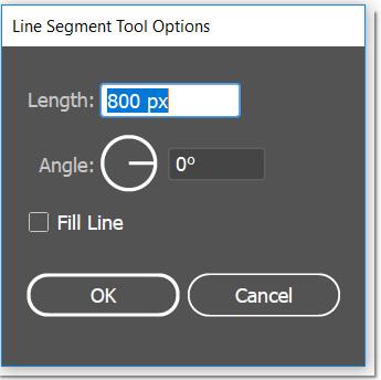 Line segment tool dialog box