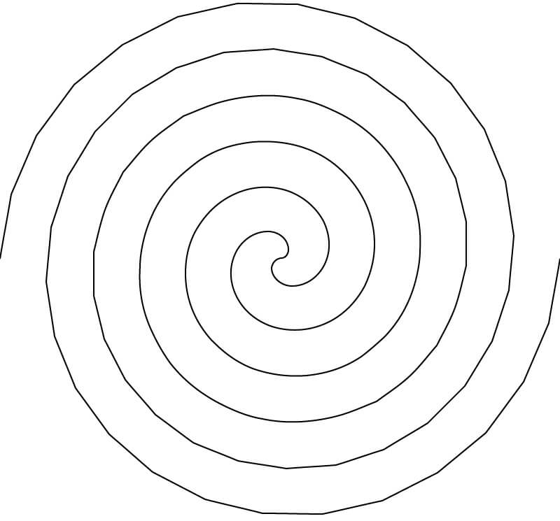 Produced linear spiral