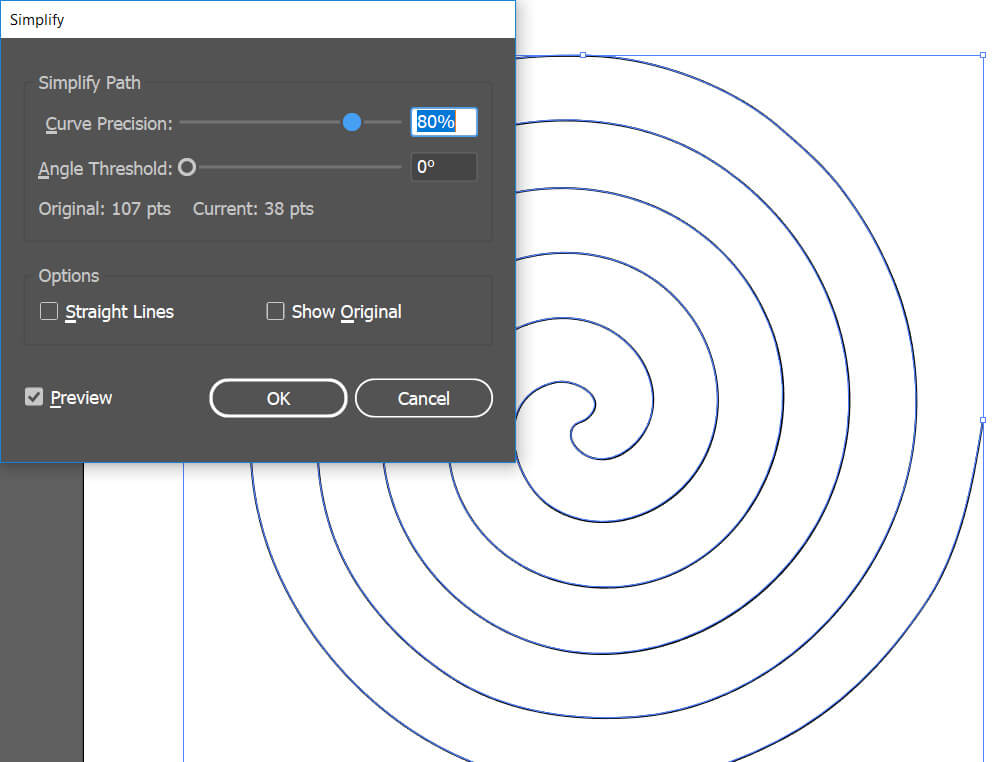 How to create Archimedean spiral in illustrator