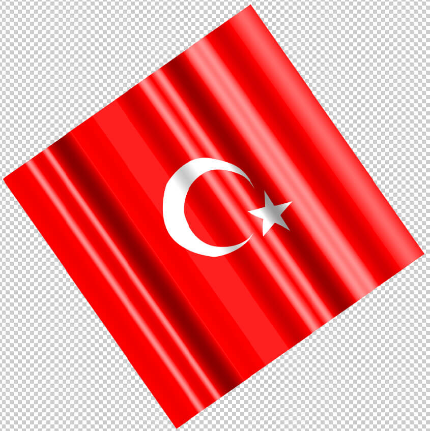 How to draw Turkish flag using illustrator