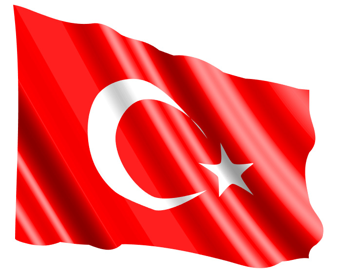 Wavy Turkish Flag vector pinterest crescent star