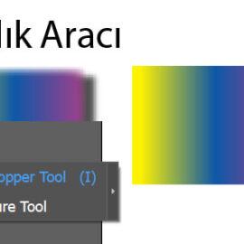 İllüstratörde Damlalık Aracı ile renk örnekleme nasıl yapılır | illustratör dışından renk kopyalama