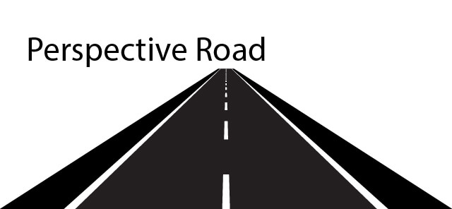 How to draw perspective road vector in illustrator