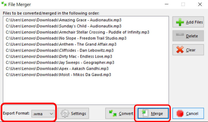 convert mp3 to other file format